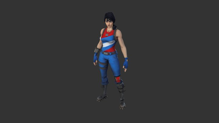 Star-Spangled Ranger Outfit 3D Model