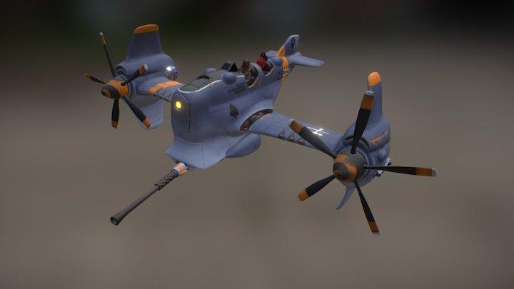 Dieselpunk plane 3D Model