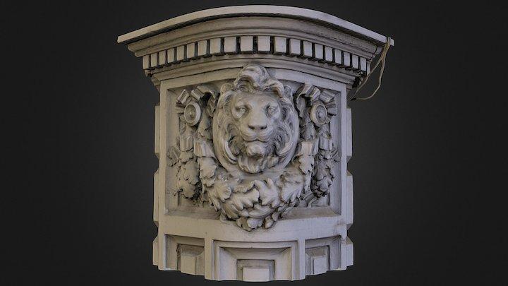 Lion Corner 3D Model