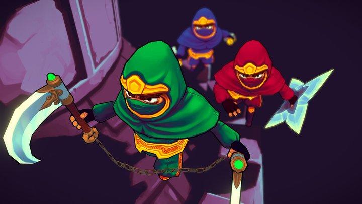 Assassins on mission 3D Model