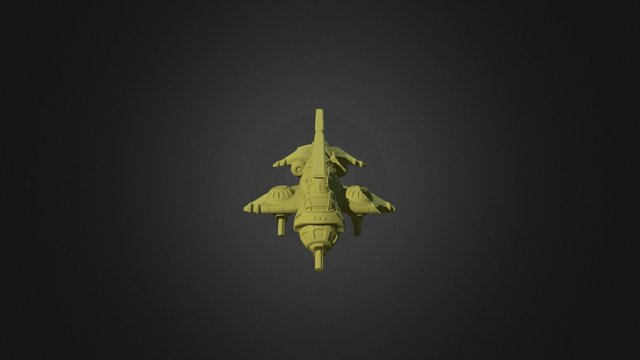 Viridian Mustang Fighter 3D Model
