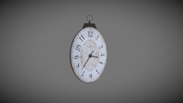 French Clock 3D Model