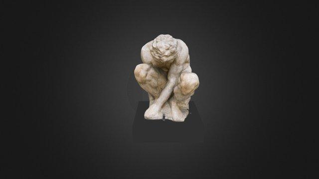 Crouching Boy 3D Model