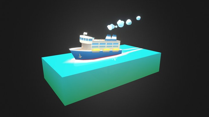 Boat Ride (Vertex color only) 3D Model