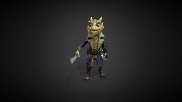 Alien Pirate 3D Model