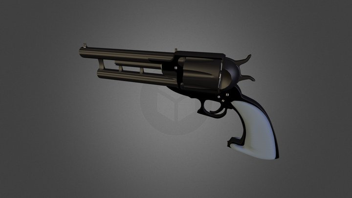 Revolver Custom Double Barrel 3D Model