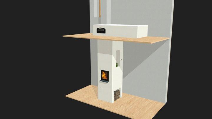 Kamna Jelínkovi ver.01 3D Model