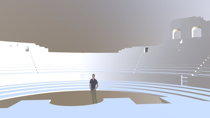 Roman Theater 3D Model