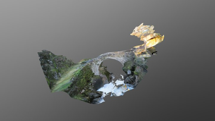 Ponte medieval do río Almofrei 3D Model