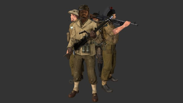 Day of Infamy - New Units - Aussie Update 3D Model