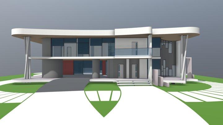 NE Oarch White House 3D Model