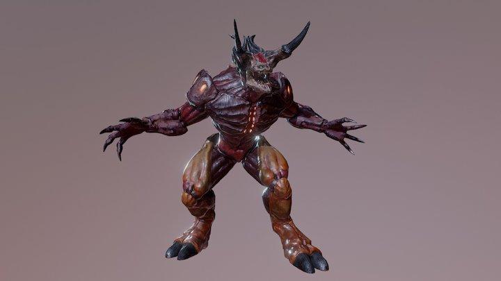 Slayer - Doom Inspired Character 3D Model