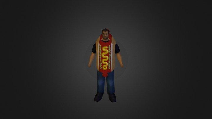 Anthony Hotdog 3D Model