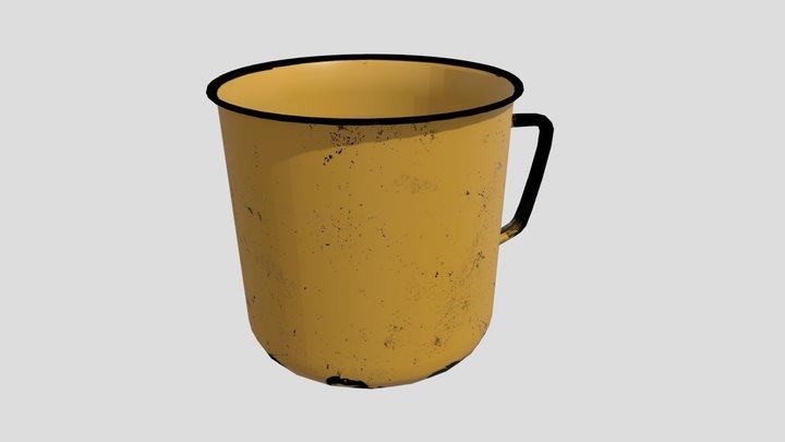 Soviet Enamel Mug 3D Model