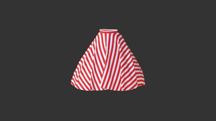 サーキュラースカートの柄実験 3D Model