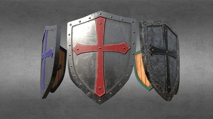 Knight Shield Pack 3D Model