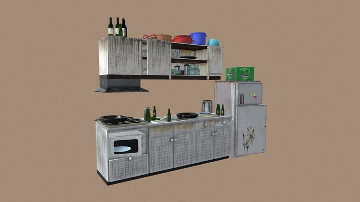 Student House | Kitchen 3D Model