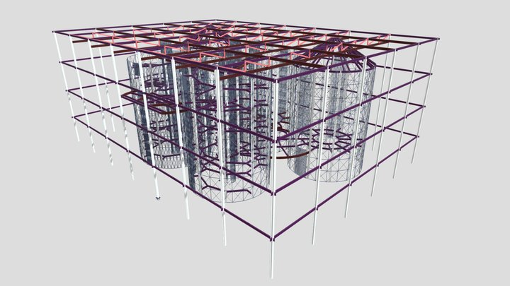 Silos Structural Models 3D 3D Model