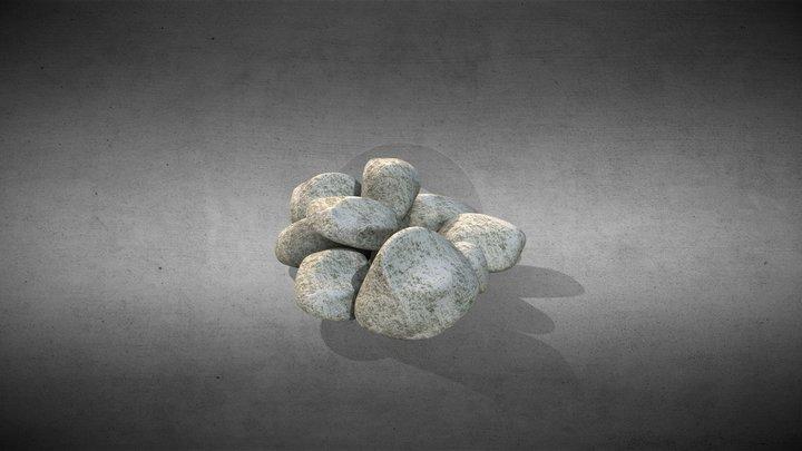 Low-Poly Stones 3D Model