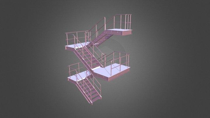 Escada metálica 3D Model
