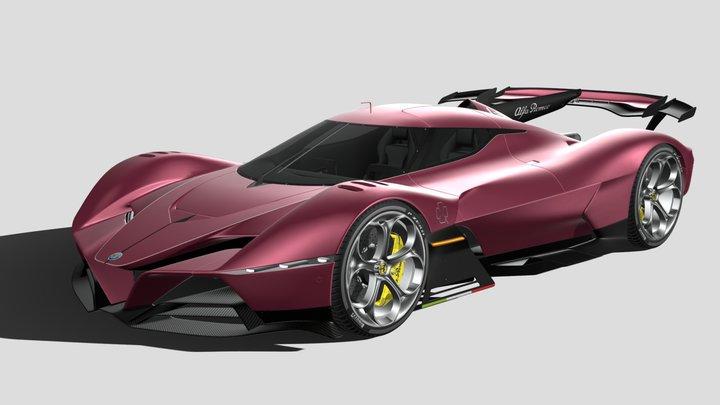 Alfa Romeo 8C-R Tazio 2020 3D Model