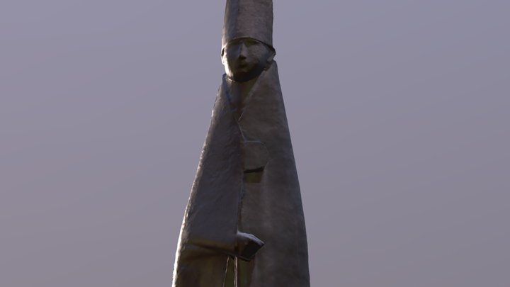 Bronze Pope 3D Model