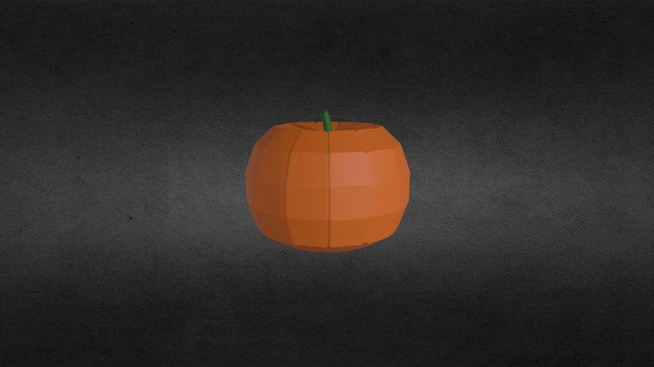 Low-Poly Pumpkin (Spooky Model Series, 4/6) 3D Model