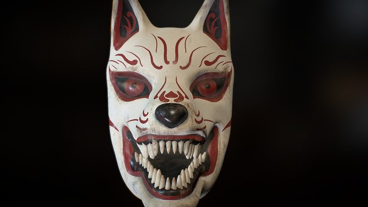 Kitsune Mask 3D Model