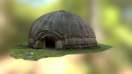 Hut at uMgungundlovu, South Africa 3D Model