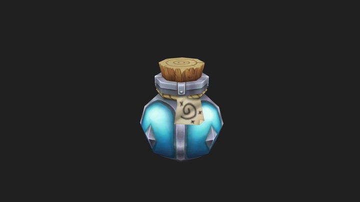 Mana Potion - Hand Painted RPG Item 3D Model