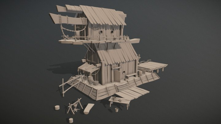 Fishing house 3D Model