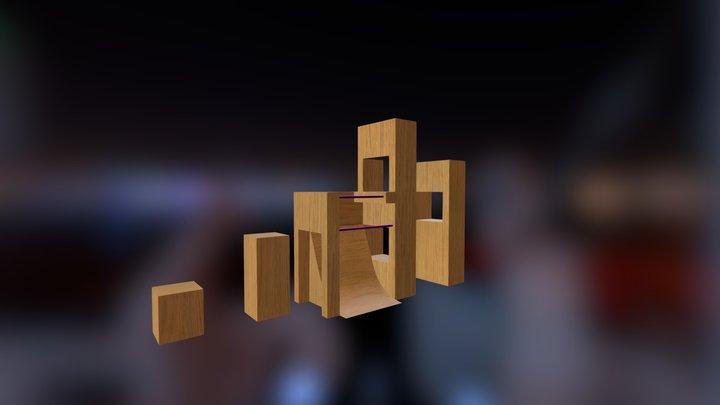 Parkour section 2 3D Model