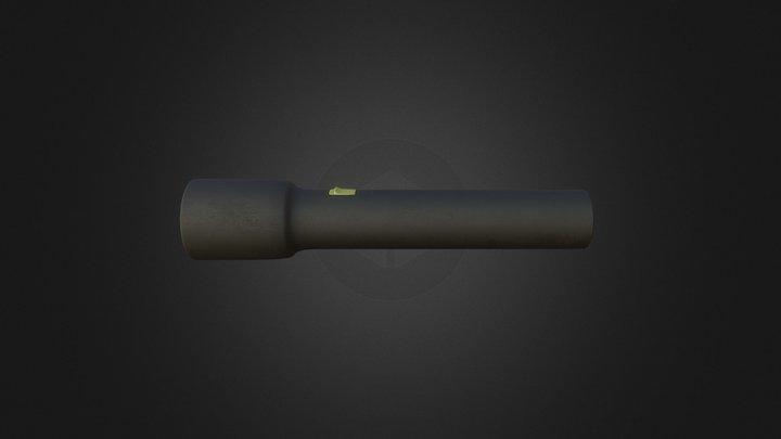 Broken Flashlight 3D Model