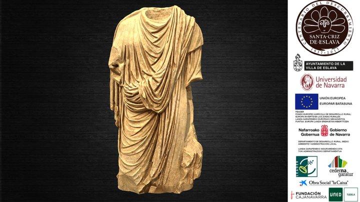 Togado acéfalo en mármol blanco, siglo I d. C. 3D Model