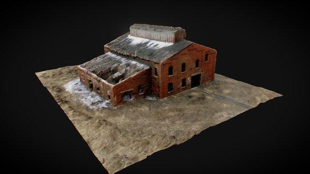 Scanned Abandoned Building Test 3D Model
