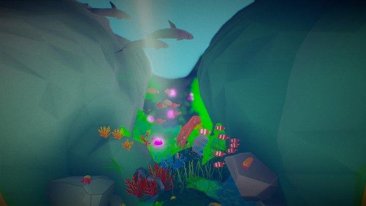 Low poly underwater - Sea Life Challenge 3D Model