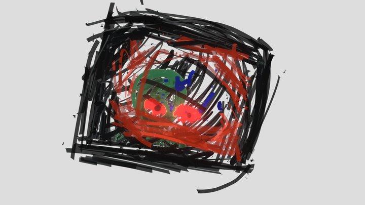 Cage Head 3D Model