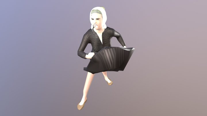 Donna - rivolta del pane 3D Model