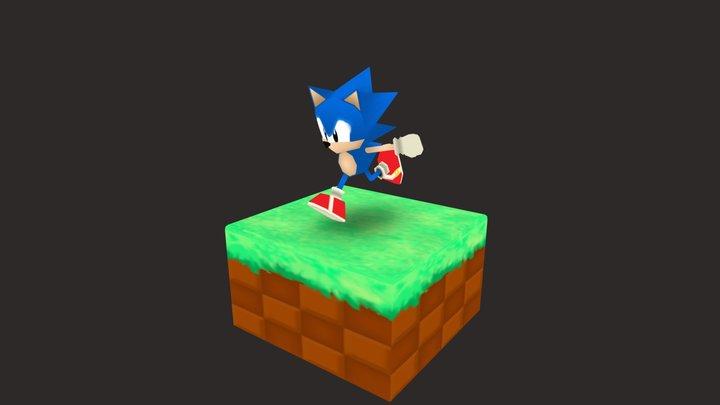 Sonic (low poly) 3D Model