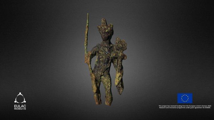 Estátua de bronze de mercúrio - Mercury bronze s 3D Model