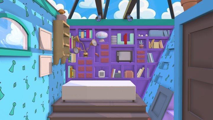 Hey Arnold Bedroom 3D Model