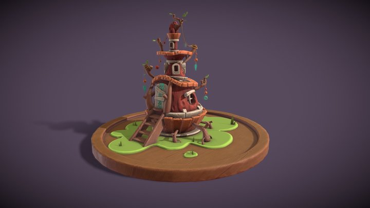 Round House WIP 3D Model