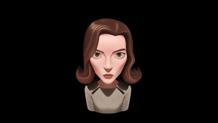Beth Harmon 3D Model