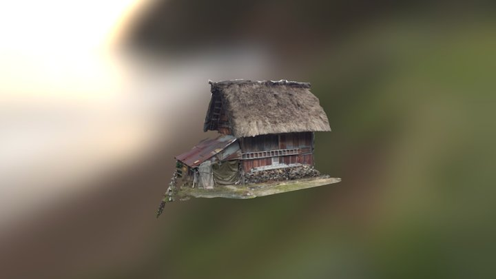 Traditional hatched house from Shirakawa-go 3D Model