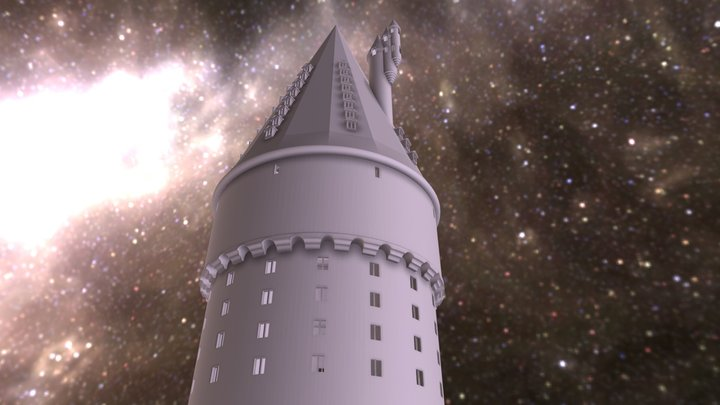 Hogwarts Headmaster Tower 3D Model