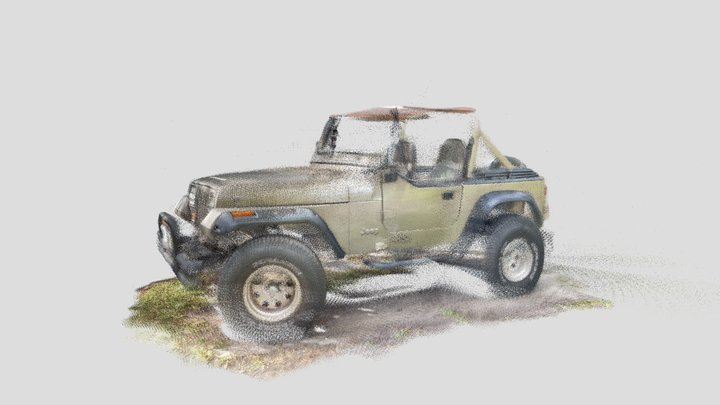 1989 Jeep Wrangler iPhone 12 scan 3D Model