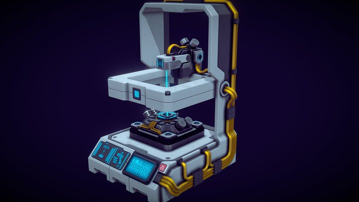 Sci-Fi Composer Unit 3D Model