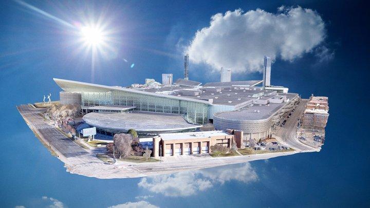 Colorado Convention Center in Denver 3D Model