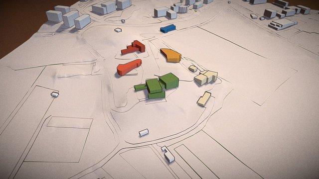 Villaggio monte degli ulivi - Riesi, Italy 3D Model