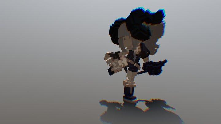 POSE-- Preparing Kick 3D Model
